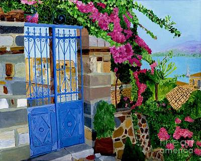 The Blue Gate  Art Print