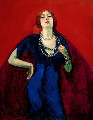 Van Dongen Painting - The Blue Gown by Kees van Dongen
