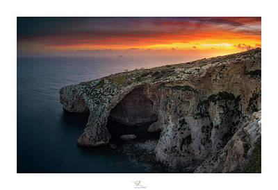 Photograph - The Blue Grotto by Adel Ferrito
