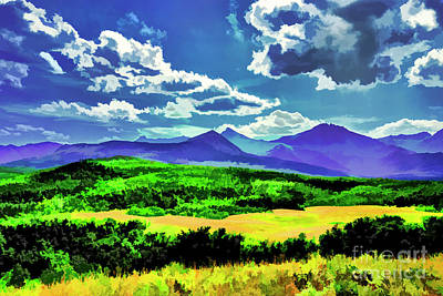 Digital Art -  The Blue Hills by Rick Bragan