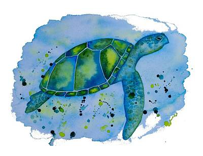 Painting - The Blue Honu by DK Nagano