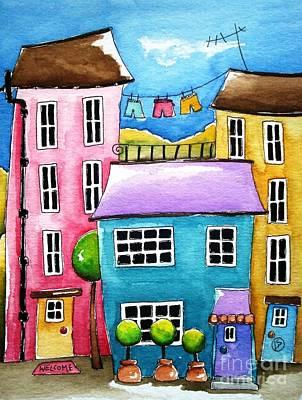 The Blue House Art Print by Lucia Stewart