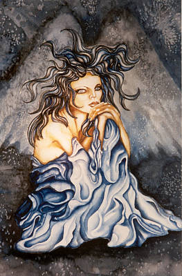 Painting - The Blue Lady by Karen Musick
