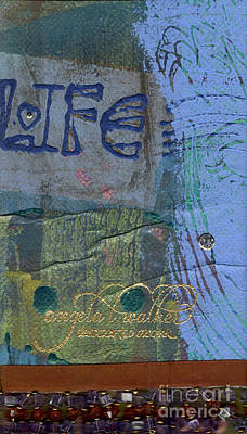 Mixed Media - The Blue Lady Prays by Angela L Walker