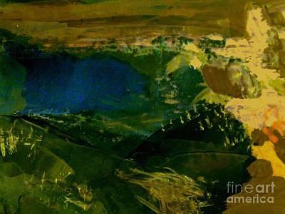 Painting - The Blue Lake by Nancy Kane Chapman
