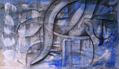 Painting - The Blue Machine by Keith A Link