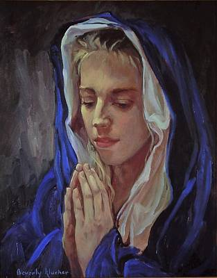 The Blue Madonna Original by Beverly Klucher