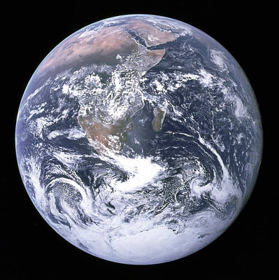 Photograph - The Blue Marble by Apollo 17 Crew Member