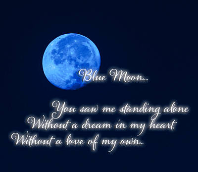Luz Digital Art - The Blue Moon See's Me by Marissa Hodge