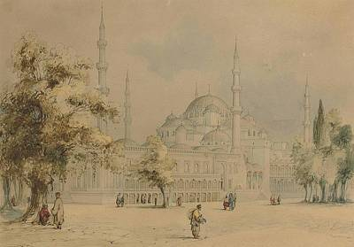 Muslim Painting - The Blue Mosque by Amadeo Preziosi
