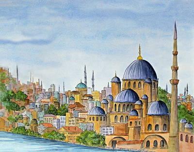 The Blue Mosque In Istanbul Turkey Original
