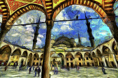 Photograph - The Blue Mosque Istanbul Art by David Pyatt