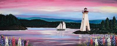 Painting - The Blue Nose II At Baddeck Nova Scotia by Patricia L Davidson