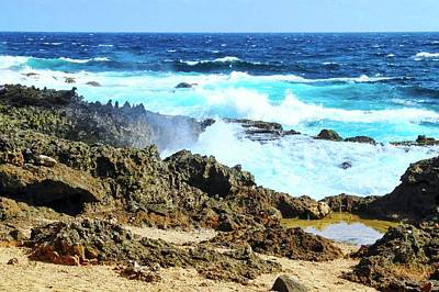 Photograph - The Blue Caribbean Sea by Kirsten Giving