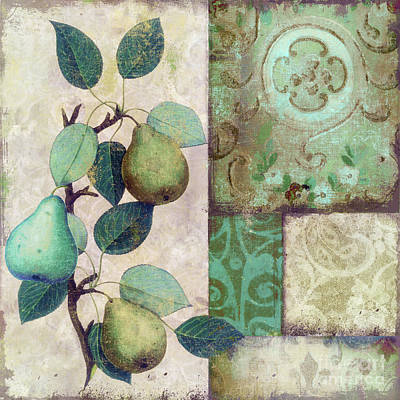 The Blue Pear Art Print