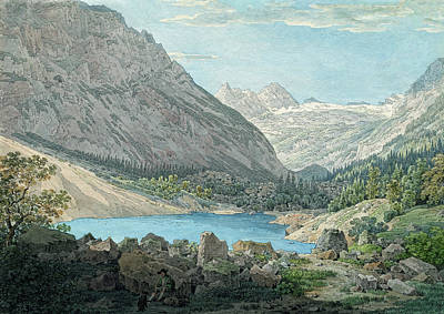 Painting - The Blue Pool In The Rein Valley Near Garmisch by Max Joseph Wagenbauer