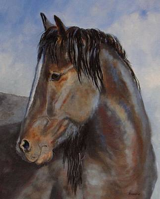 The Blue Roan Art Print by Debra Mickelson