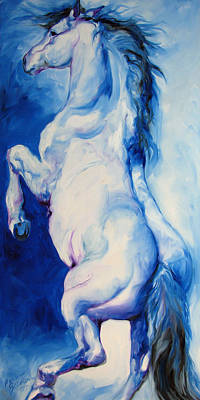 Horses Painting - The Blue Roan by Marcia Baldwin