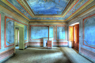 Photograph - The Blue Room Of The Villa With The Colored Rooms by Enrico Pelos