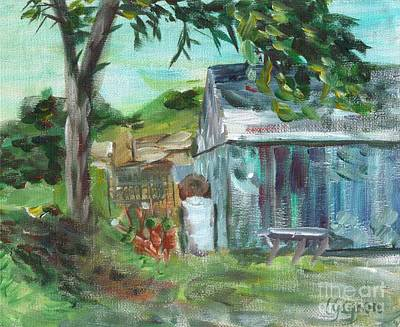 Painting - The Blue Shed by Claire Gagnon