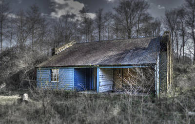 Shed Digital Art - The Blue Shed by Nigel Bangert