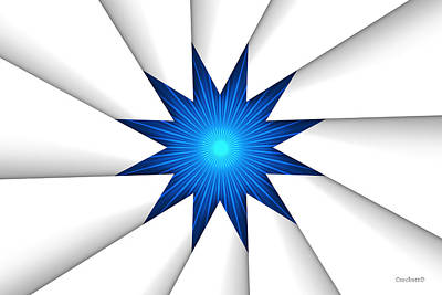 Photograph - The Blue Star by Gary Crockett