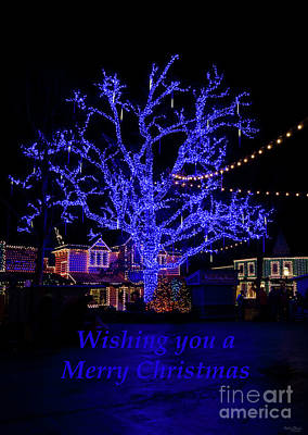 Photograph - The Blue Tree Greetings by Jennifer White