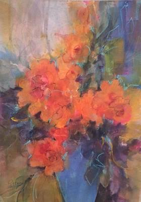 Painting - The Blue Vase by Karen Ann Patton