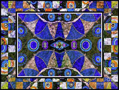 Mixed Media - The Blue Vibrations by Jolanta Anna Karolska