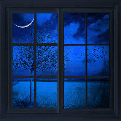 Art Print featuring the photograph The Blue Window by Philippe Sainte-Laudy