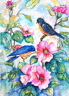The Bluebirds Are Back Art Print by Norma Boeckler