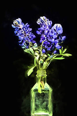 Digital Art - The Bluebonnet Still Life by JC Findley
