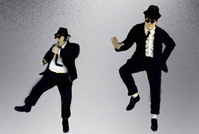 Painting - The Blues Brothers by Jeff DOttavio