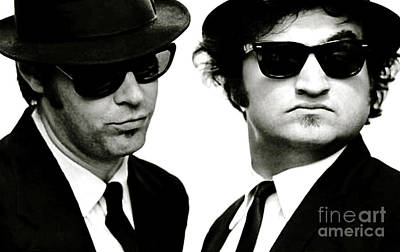 Viper Mixed Media - The Blues Brothers, John Belushi And Dan Aykroyd by Thomas Pollart