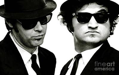 Viper Mixed Media - The Blues Brothers, John Belushi And Dan Aykroyd by Thomas Pollart