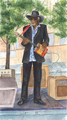 Painting - The Blues Man by Barbel Amos