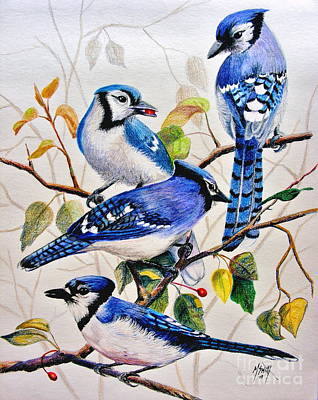 Bluejay Drawing - The Blues by Marilyn Smith