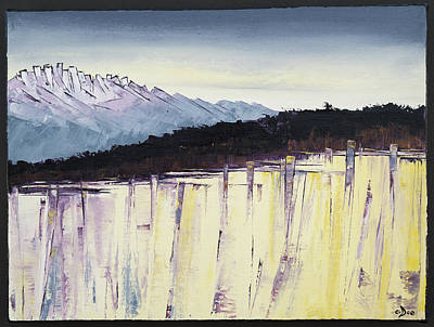 The Bluff And The Mountains Art Print by Carolyn Doe
