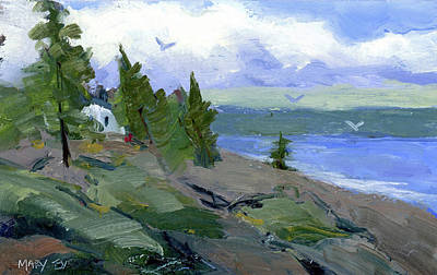 Painting - The Bluff by Mary Byrom