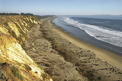 Gaviota Photograph - The Bluffs Of Ellwood Beach At Coal Oil by Rich Reid