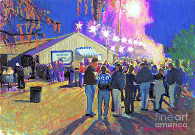 Painting - The Bluffton Oyster Roast by Candace Lovely