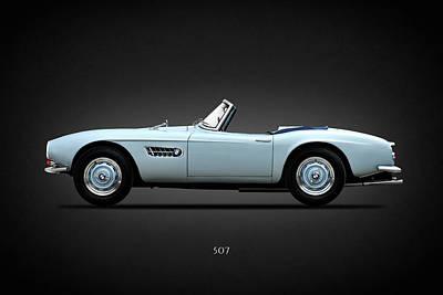 Sports Car Photograph - The Bmw 507 by Mark Rogan