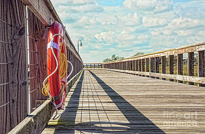 Photograph - The Boardwalk At Shem Creek by Sharon McConnell