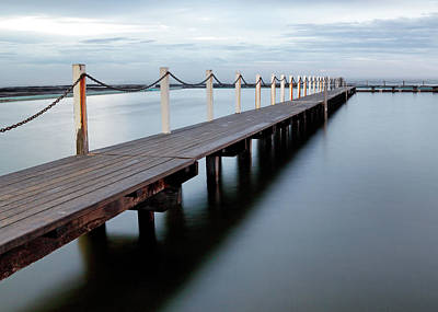 Swim Ladder Photograph - The Boardwalk by Nicholas Blackwell