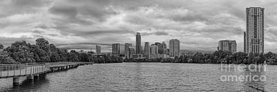 Sustainable Design Photograph - The Boardwalk Trail At Lady Bird Lake - City Of Austin Skyline - Texas Hill Country by Silvio Ligutti