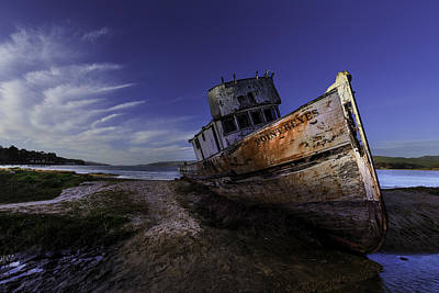 Photograph - The Boat After The Fire by PhotoWorks By Don Hoekwater