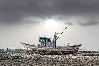 Art Print featuring the photograph The Boat by Angel Jesus De la Fuente