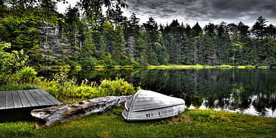 The Boat At Wheeler Pond Art Print by David Patterson