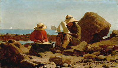 The Boat Builders - 1873 Art Print by Winslow Homer
