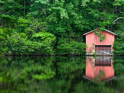 Photograph - The Boat House At Desoto Falls by Phillip Burrow